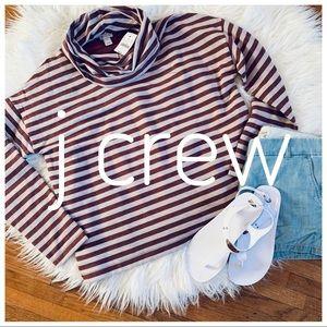 J CREW NWT striped turtleneck super soft inside